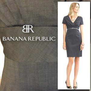 BANANA REPUBLIC V-Neck Short Sleeve Dress  SIZE 12